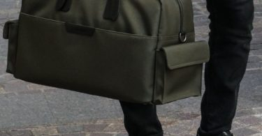 Olive and Black Campaign Bag by Stuart & Lau