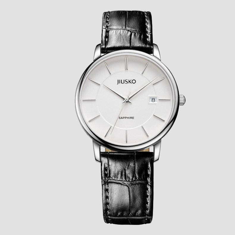 JIUSKO Swiss Quartz Analog Classic Leather Watch