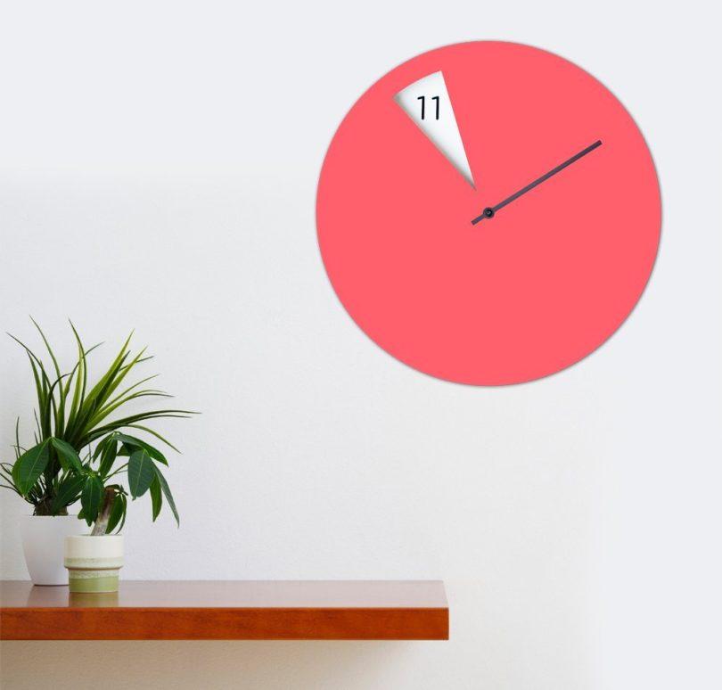 Lilac Freakish Clock