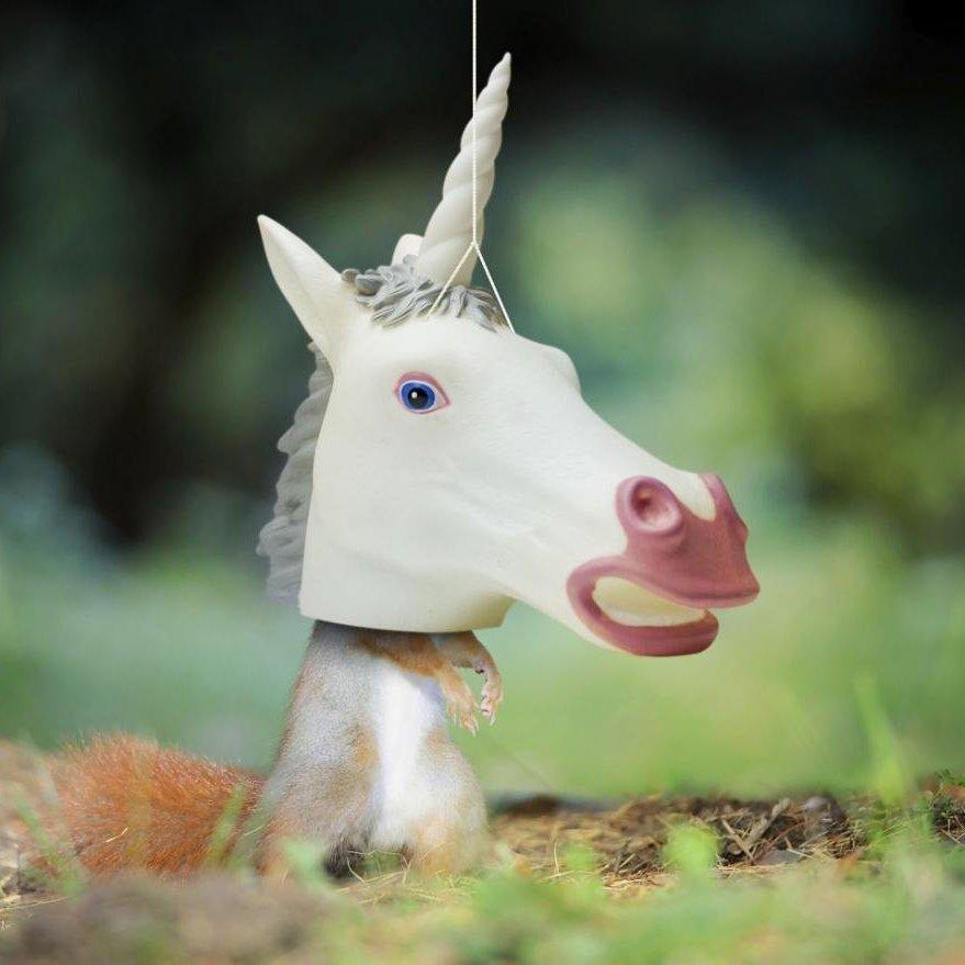 Unicorn Head Squirrel Feeder