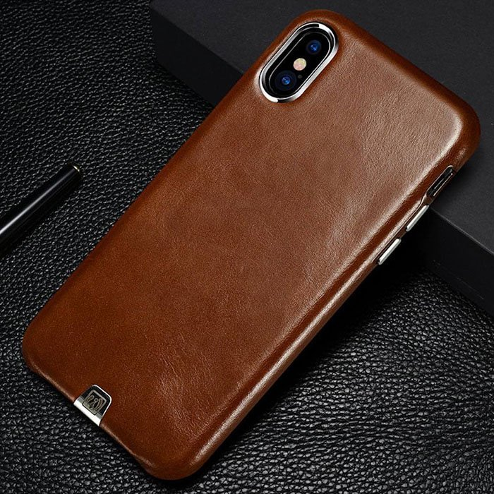 Genuine Leather iPhone X Case