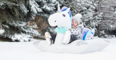Giant Winter Unicorn Snow Tube