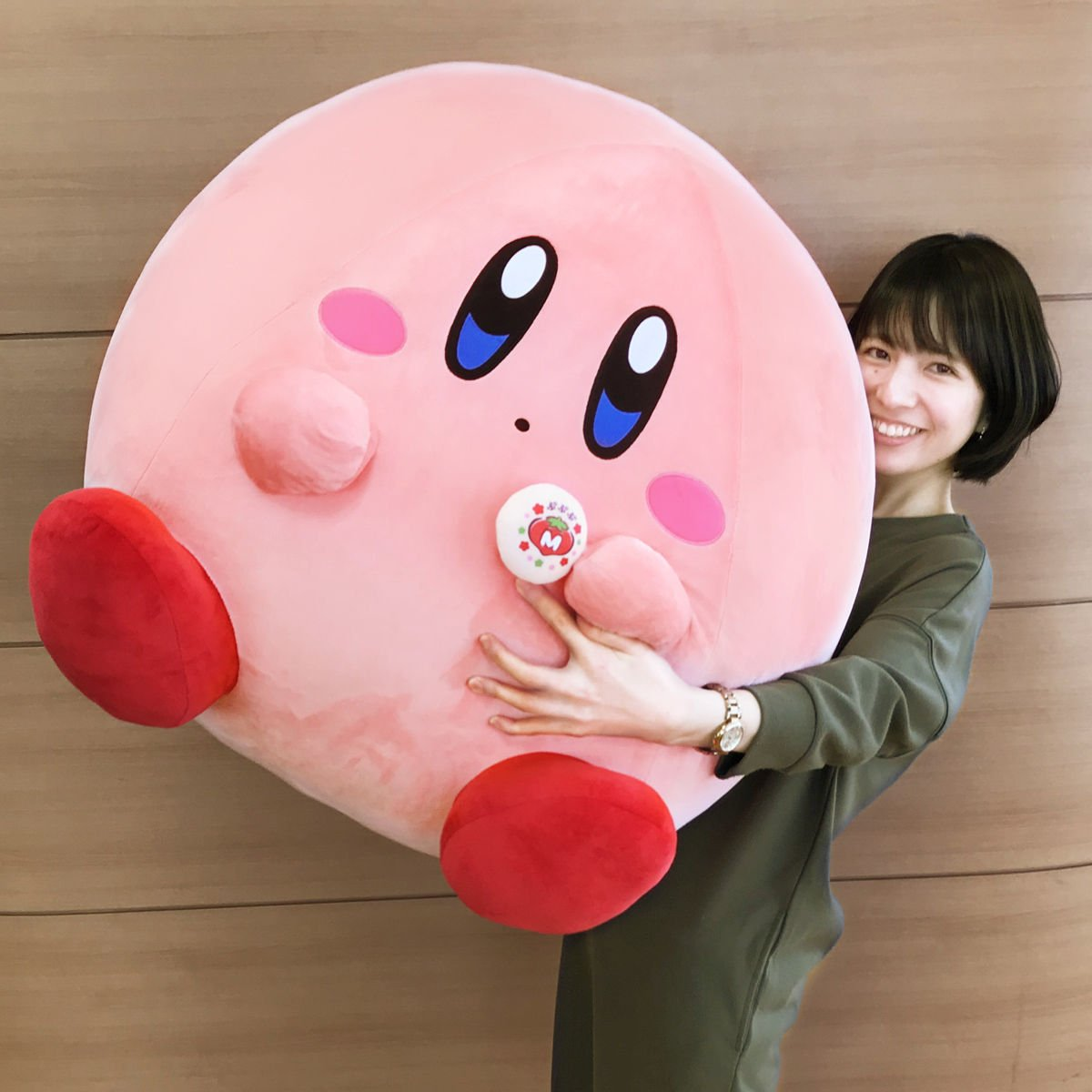 Giant Kirby Plush Toy and Manju Cake Set