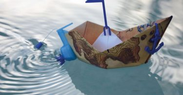 POWERUP Wind Up Powered Paper Boat Pool Toy Conversion Kit