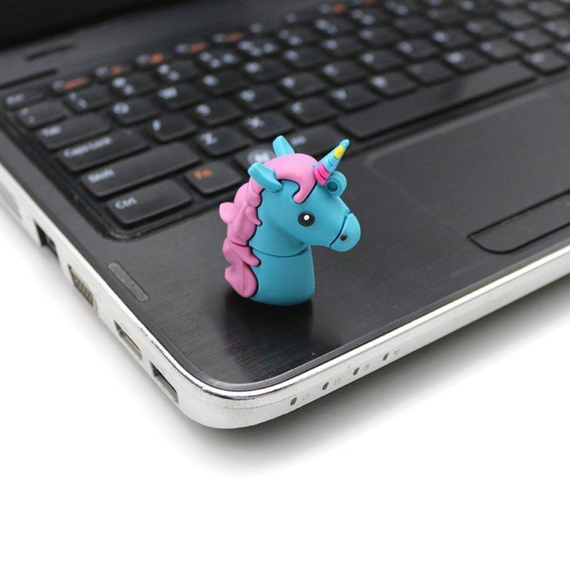 Cartoon Unicorn PVC USB Flash Drive 2.0