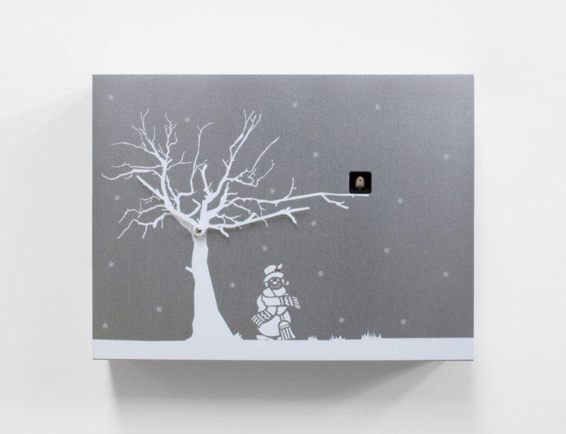 Contemporary Christmas Theme Modern Cuckoo Clock