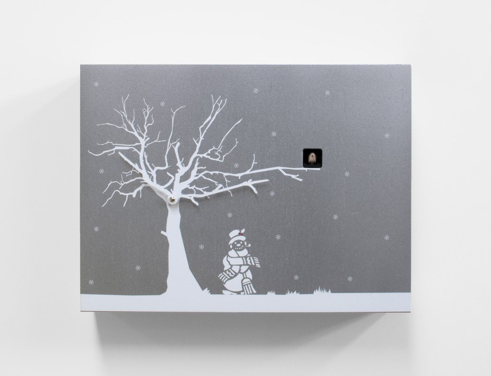 Contemporary Christmas Theme Modern Cuckoo Clock