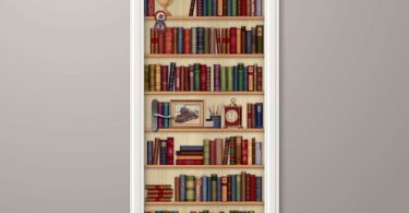 Wallstickery Door Wall Sticker Faux Bookshelf