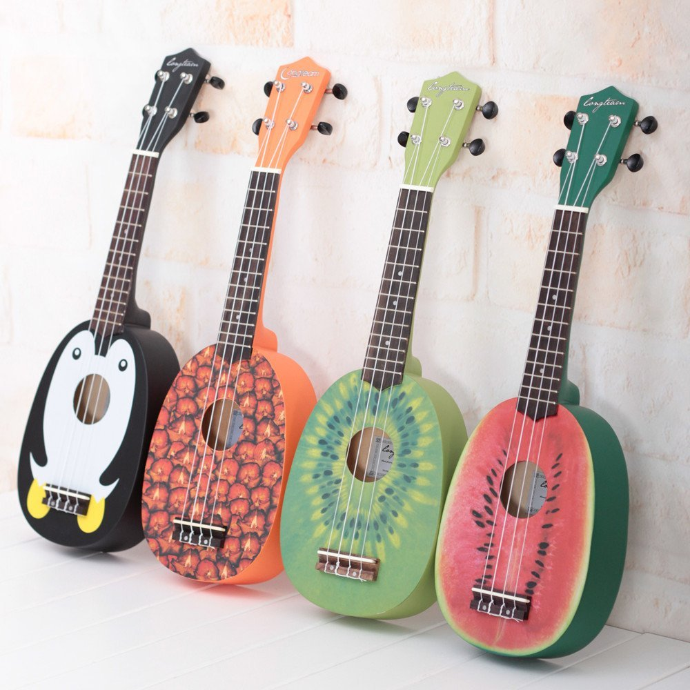 Cute Pineapple Shape Handmade Carving Dapper Beginners Concerts Ukuleles