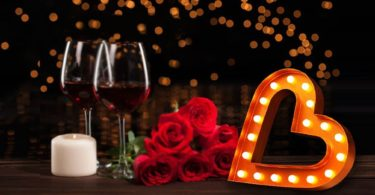 Large Romantic LED HEART Marquee Sign
