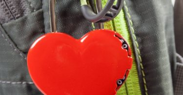 FJM Security SX-691 3-Dial Red Heart Combination Padlock