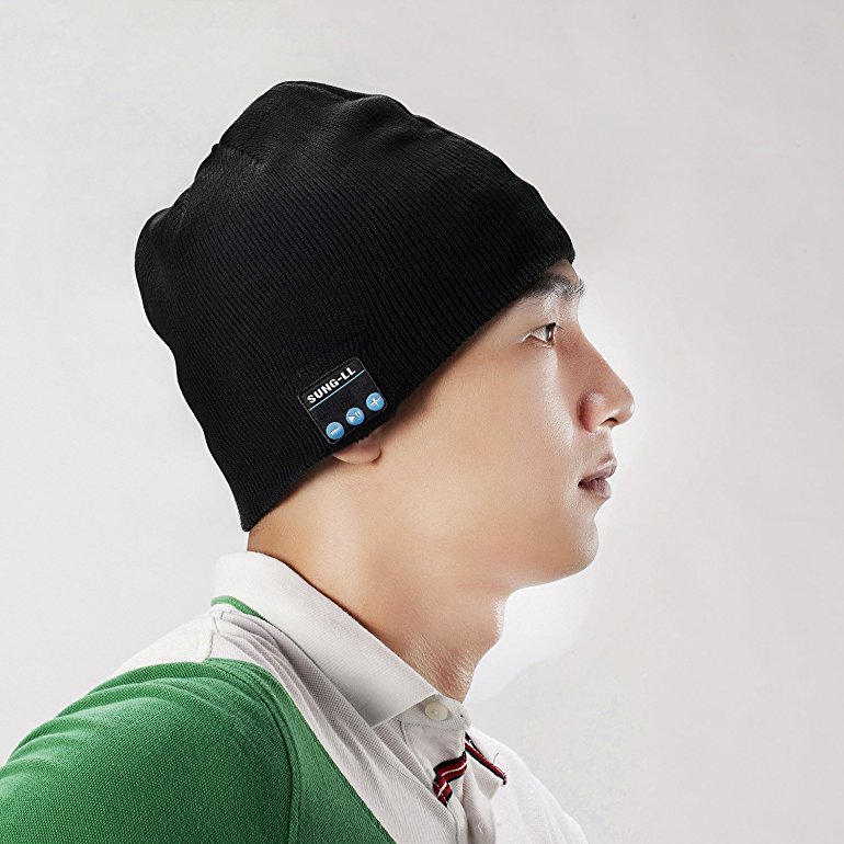 Sung-ll Soft and Warm Hat Wireless Beanie with Bluetooth