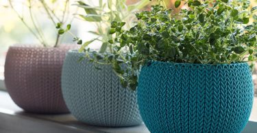 Keter NEW KNIT Style Planters Decor Pots