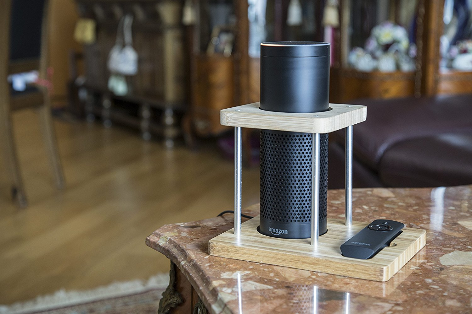 Bamboo Speaker Stand for Amazon Echo