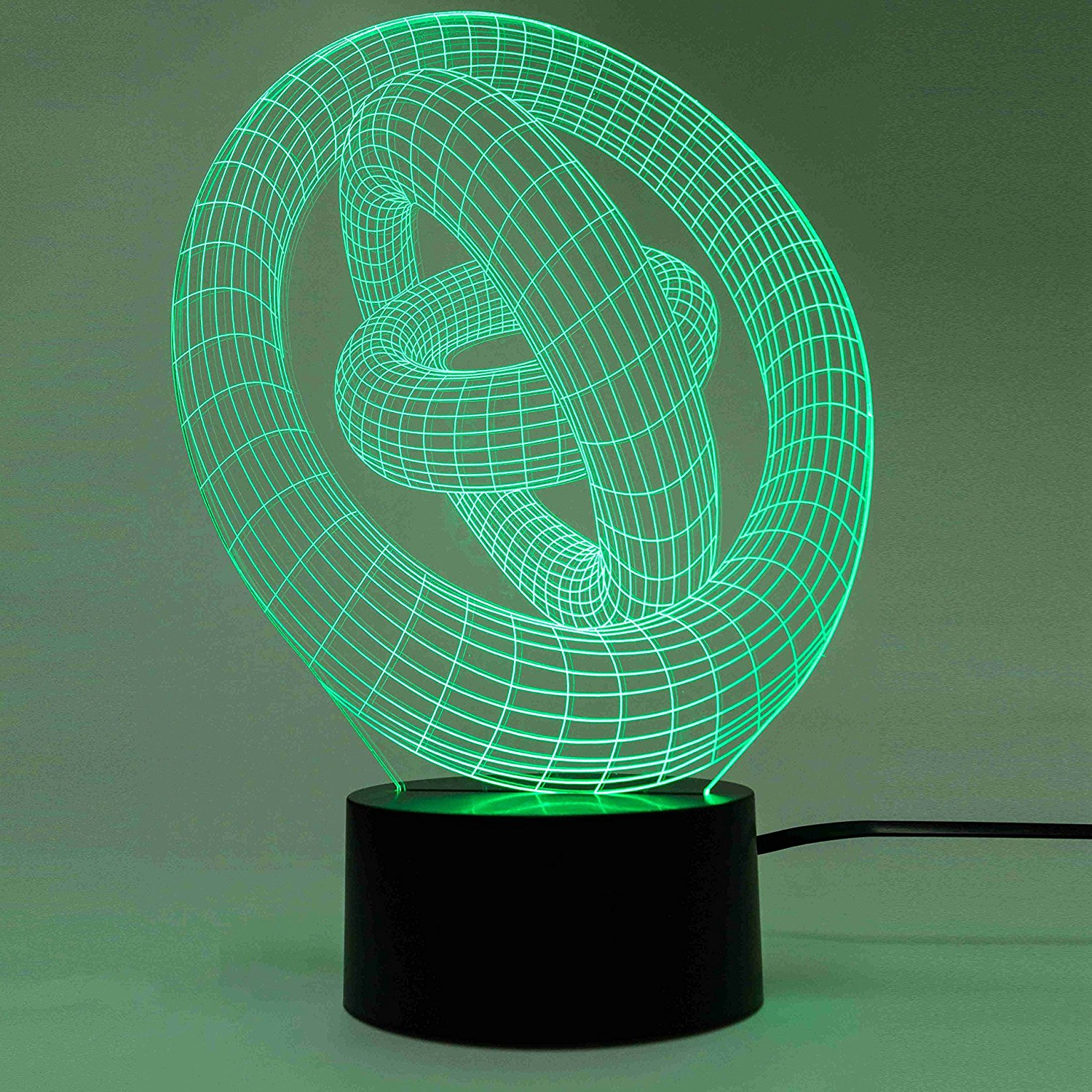 Circles Optical Illusion Table Lamp by Zinteh