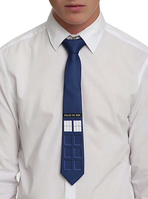 Blue Doctor Who Unisex Tardis Necktie