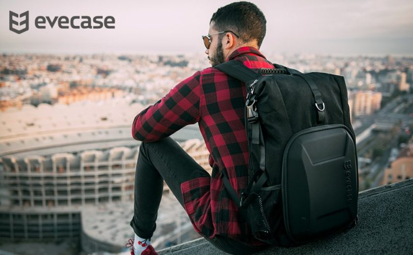 Evecase Shell DSLR Camera / 15.6-inch Laptop Water Resistant Backpack