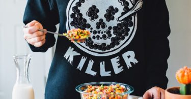 Cereal Killer Skull Crewneck Sweatshirt