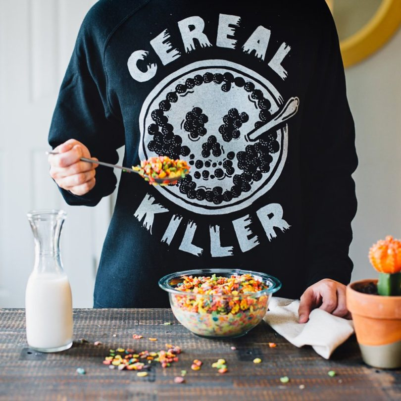 Cereal Killer Skull Crewneck Sweatshirt
