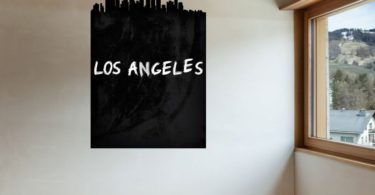 Los Angeles Skyline Chalkboard Wall Decal