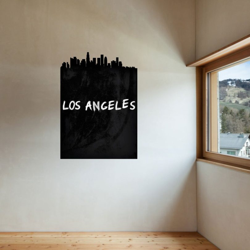 Los Angeles Skyline Chalkboard Wall Decal