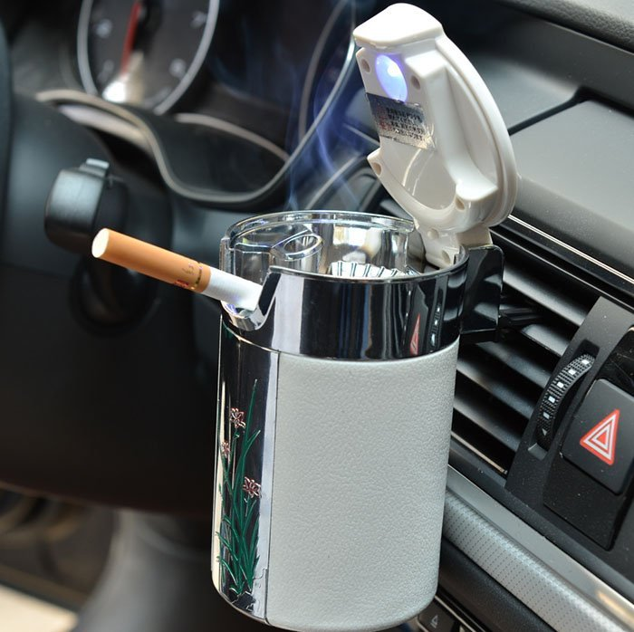 Car LED Cigarette Ashtray