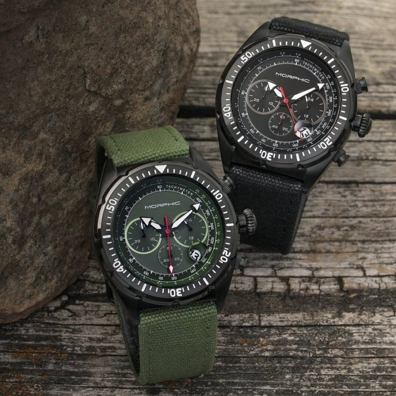 Morphic M53 Series Chronograph Magnified Date Watch