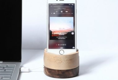 Wooden Phone Charger Stand