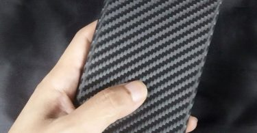 Matte Carbon Fiber Pattern Back Cover