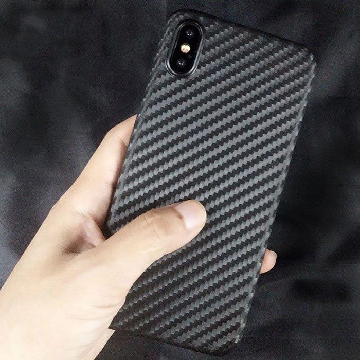Matte Carbon Fiber Pattern Back Cover