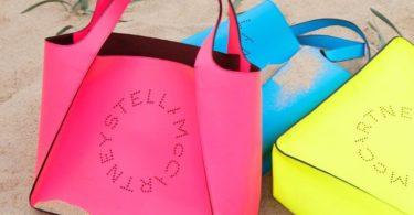 Stella McCartney Pink Fluo Logo Tote