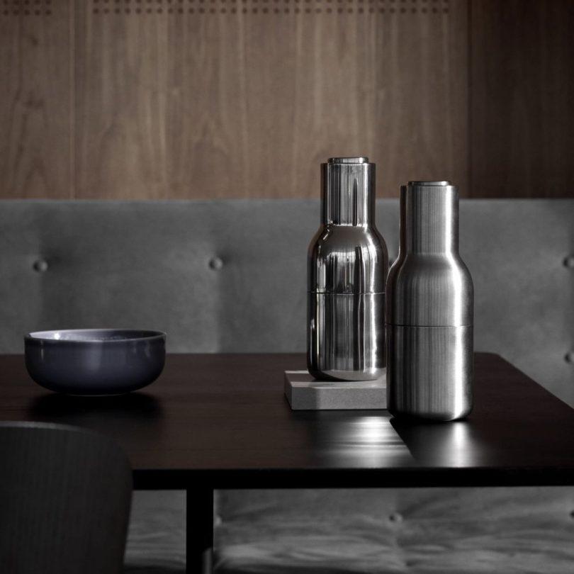 Bottle Grinder Salt & Pepper Mill Set by Menu