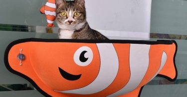 Fish Shaped Cat Window Nest
