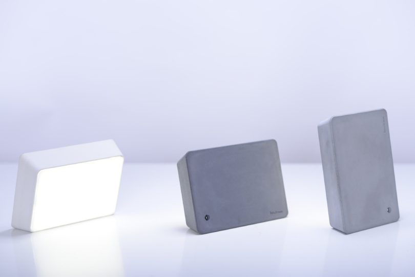 Lite Grey Concrete Brick Lamp