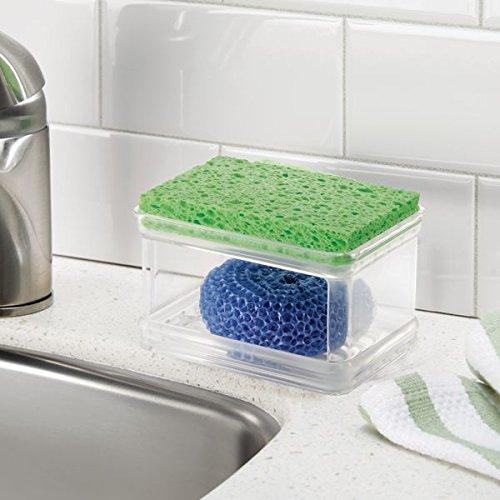 mDesign Two-Tier Kitchen Sink Holder for Sponges