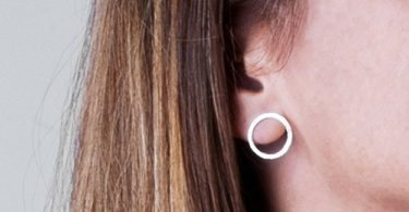 Sterling Silver Open Circle Earrings