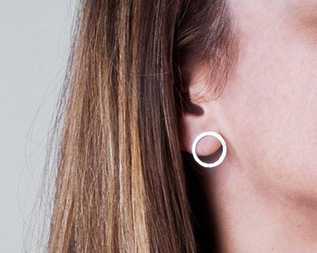 Sterling Silver Open Circle Earrings