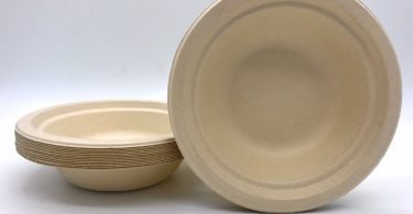 Eco-friendly Disposable Paper Bamboo Bowls