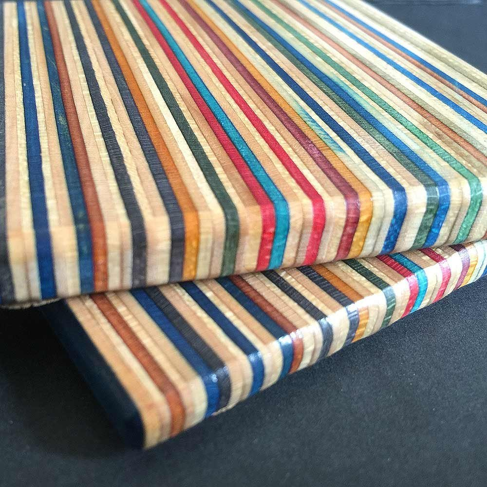 Recycled Skateboard Coaster Square (3.5″)