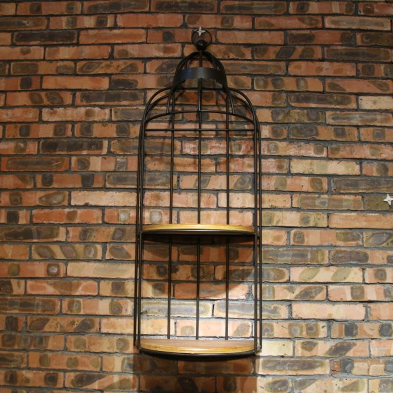 Wall Decorated Solid Wood Birdcage