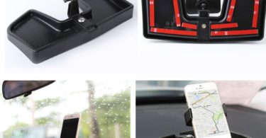 Car Dash Cell Phone Holder With ABS Storage Box