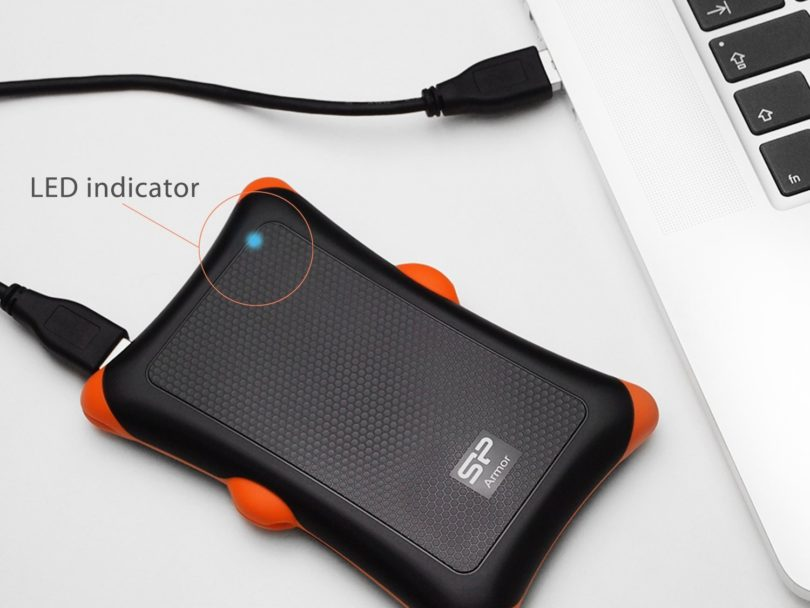Silicon Power 1TB Rugged Armor A30 Military Grade Shockproof USB 3.0 HDD