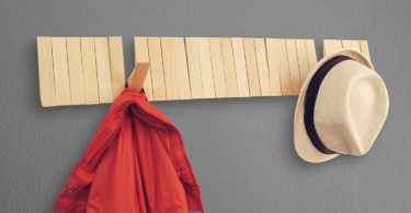 Home Moda Piano Wall Mounted CoatRack with Space Saving 29 Hooks for Coats