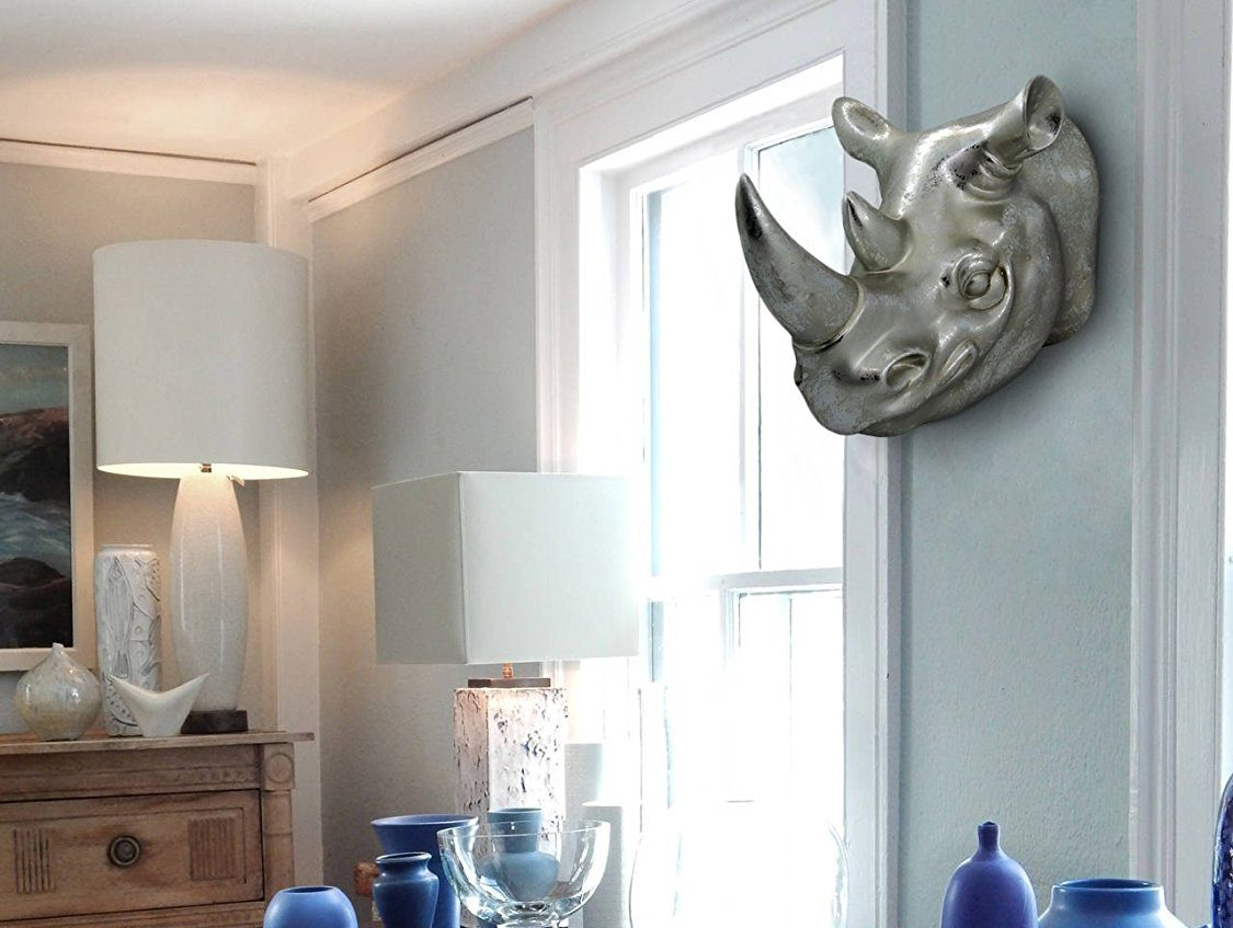 Rhinos Head Wall Mounted Sculpture for Home Decor