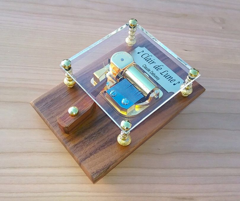 """Clair De Lune"" 30 Note Music Box By Odyssey"