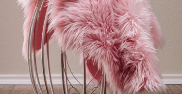 Chanasya Super Soft Faux Fur Fake Pink Cover Rug