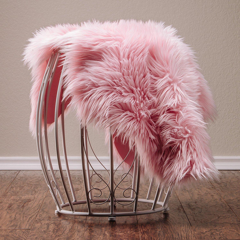 Chanasya Super Soft Faux Fur Fake Pink Cover Rug » Petagadget