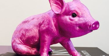 Pink Chrome Piggy Bank