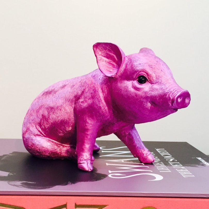 Pink Chrome Piggy Bank
