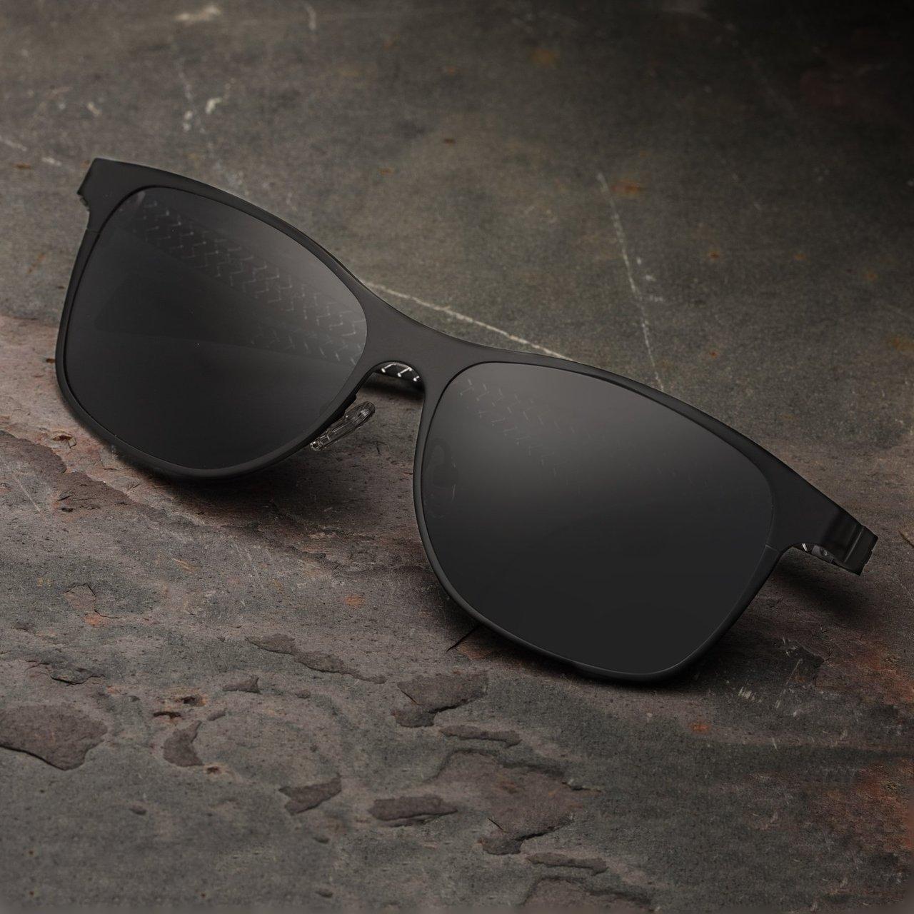 Breed Templar Black Titanium Sunglasses with Carbon Fiber Arms